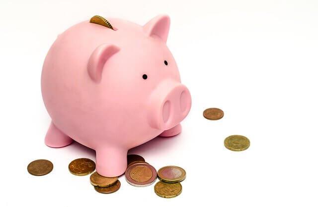 豚の貯金箱・お金